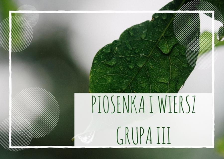 Piosenka I Wiersz Dla Dzieci Z Grupy Iii Na Październik 2017