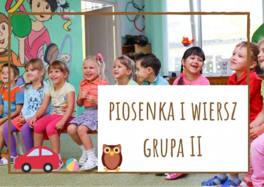 Piosenka I Wiersz Dla Dzieci Z Grupy Ii Na Wrzesień 2019 A