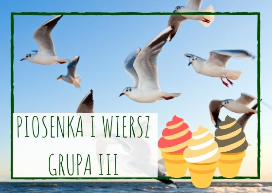 Piosenka I Wiersz Dla Dzieci Z Grupy Iii Na Czerwiec 2019