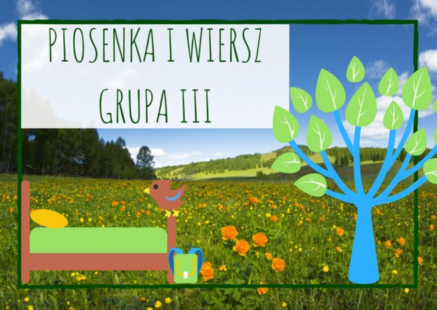 Piosenka I Wiersz Dla Dzieci Z Grupy Iii Na Czerwiec 2018