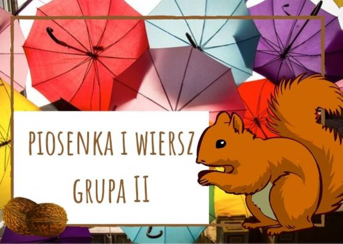 Piosenka I Wiersz Dla Dzieci Z Grupy Ii Na Październik 2019