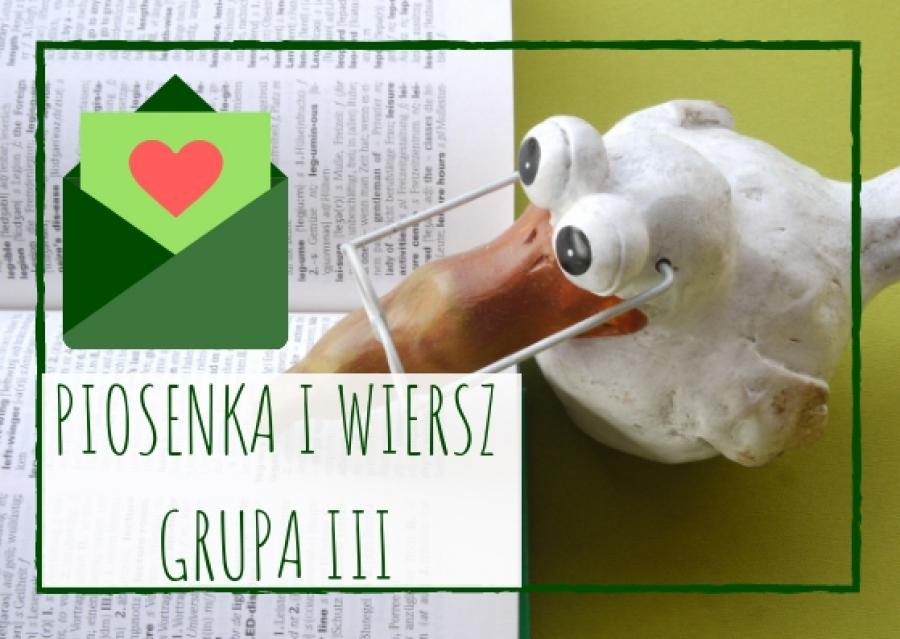Piosenka I Wiersz Dla Dzieci Z Grupy Iii Na Listopad 2018